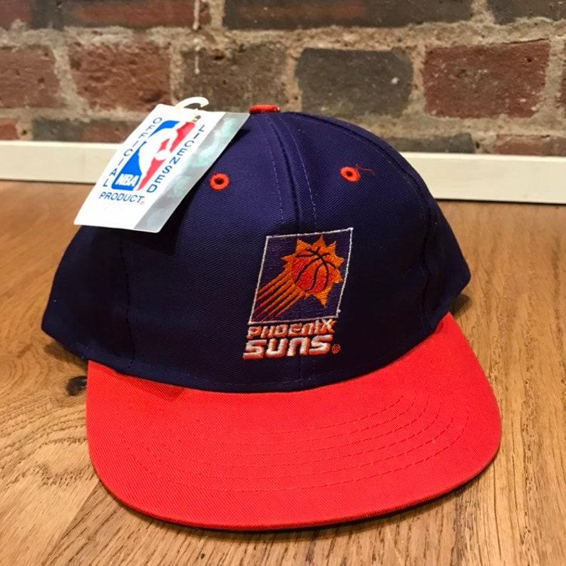 d52ea34b7 Vintage Phoenix Suns Snapback Hat Adjustable Blockhead NBA Basketball by  Logo 7 Compeditor New Tag Youth