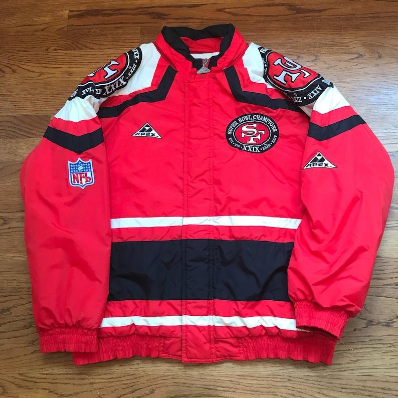 100% authentic 5e7f3 45f24 Vintage San Francisco 49ers Super Bowl XXIX Champions Winter Jacket Apex  One Size Medium