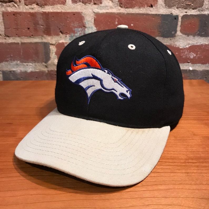 14c7fcf5a68698 Vintage Denver Broncos Snapback Hat Adjustable NFL Football by | Etsy