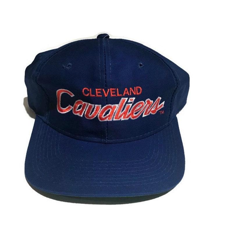 cae6796c3da Vintage Cleveland Cavaliers Cavs Script Snapback Hat