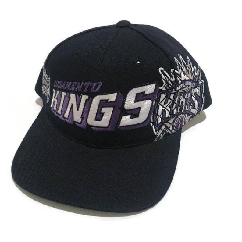 sale retailer 4a27c 9c061 Vintage Sacramento Kings Grid Snapback Hat Adjustable NBA   Etsy
