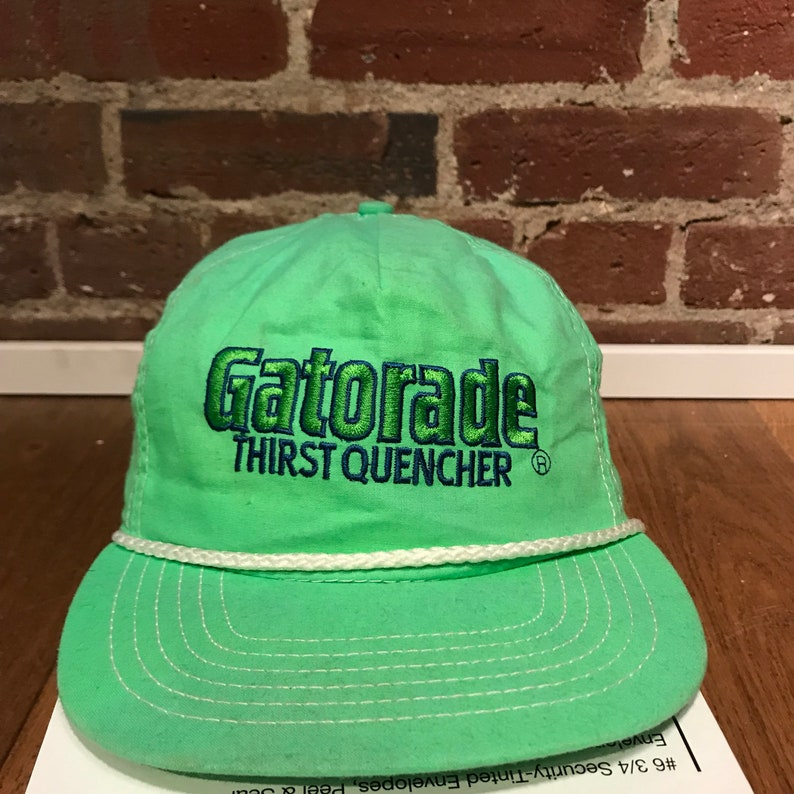 8ca956a9777 Vintage Gatorade Thirst Quencher Snapback Hat Adjustable Rope | Etsy