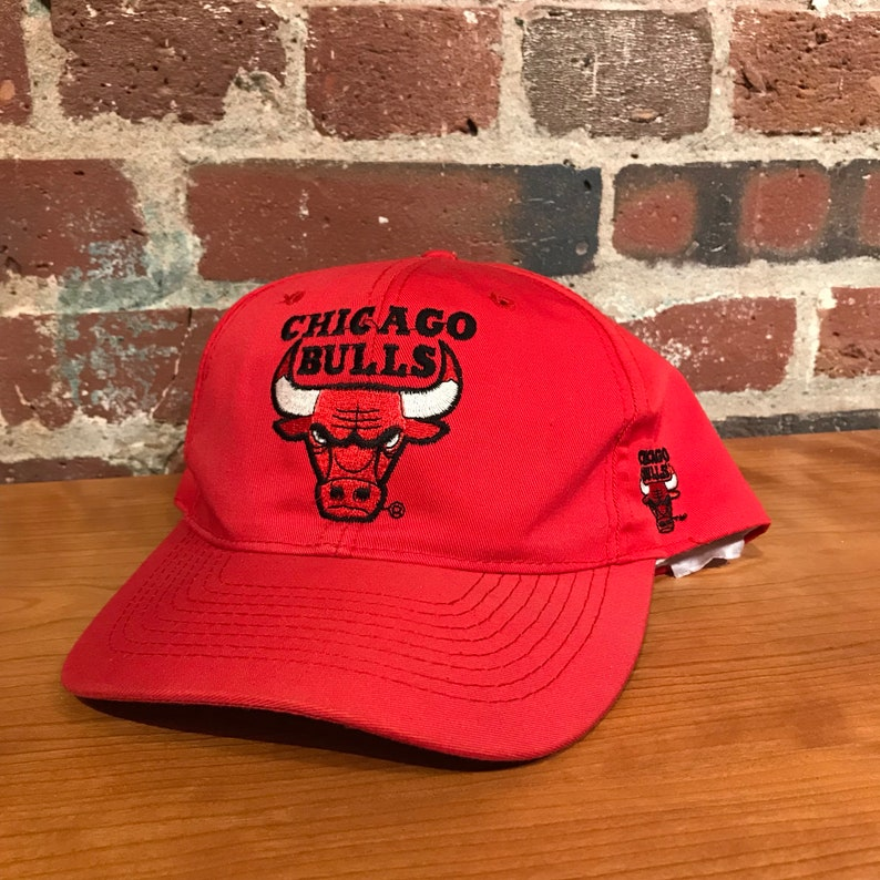 a00577d8e8c Vintage Chicago Bulls Blockhead Snapback Hat Adjustable NBA