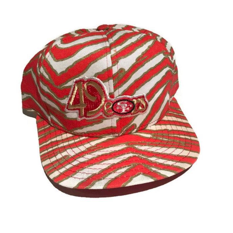 3be0588af6a44 Vintage San Francisco 49ers Snapback Hat Adjustable Zebra