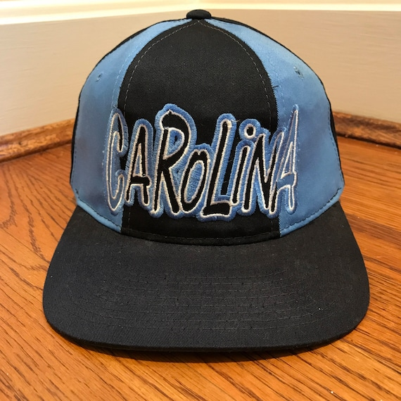Vintage UNC Tar Heels Snapback Hat NCAA Norty Carolina Tri  3510ec979d7