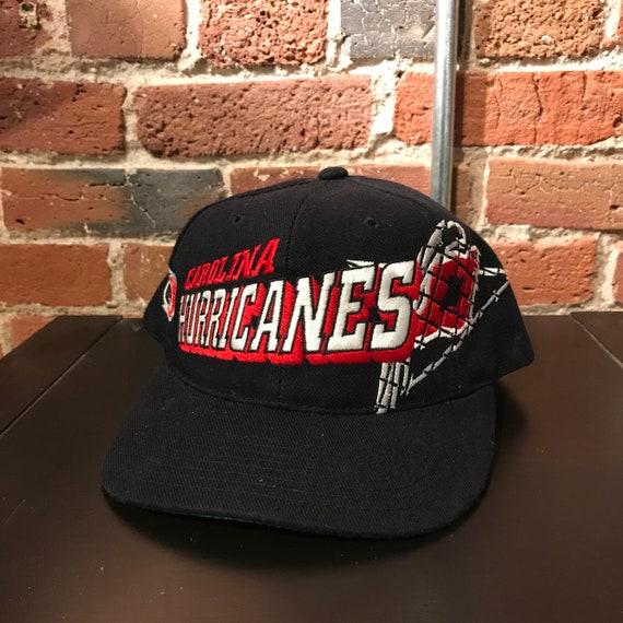 7c9390117ac127 Vintage Carolina Hurricanes Snapback Hat Adjustable Grid NHL | Etsy