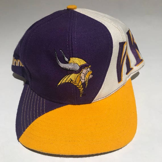 Vintage Minnesota Vikings Snapback Hat Adjustable NFL Football  6cde4f557486