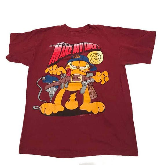 Vintage Garfield Tee Shirt Comics Make My Day Size Large Etsy