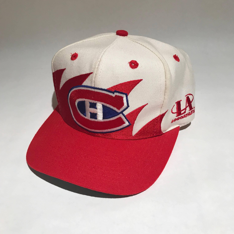 Vintage Montreal Candiens Sharktooth Snapback Hat Adjustable  db4917a51f29