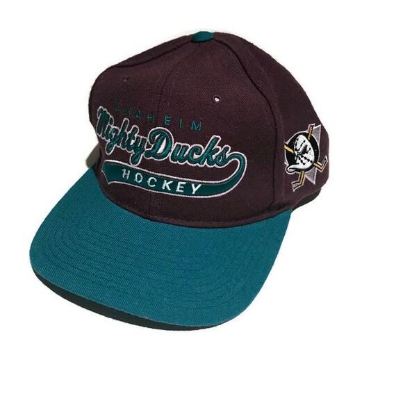 Vintage Mighty Ducks Script Snapback Hat Adjustable Nhl Hockey Etsy