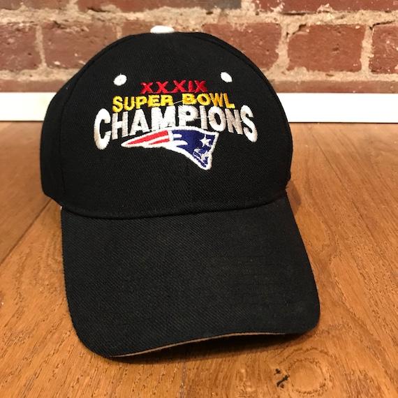 Vintage New England Patriots Super Bowl Champions Hat Cap  3e8474a608b6