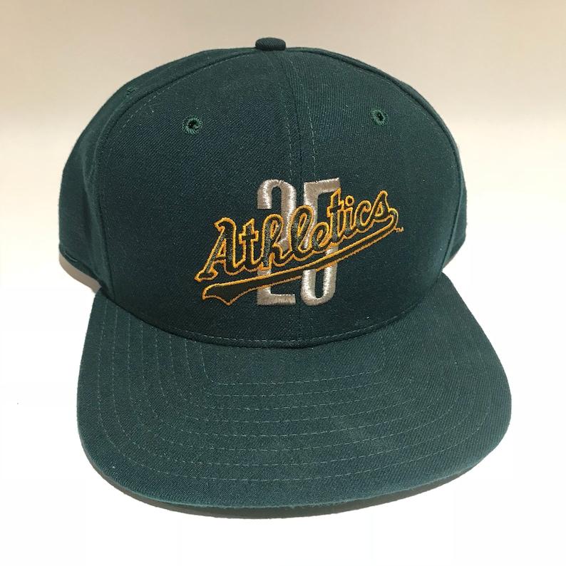 baba27ed Vintage Oakland Athletics A's Snapback Hat Adjustable MLB   Etsy