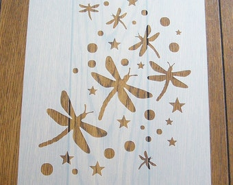 Dragonfly Stencil Mask Reusable PP Sheet for Arts & Crafts