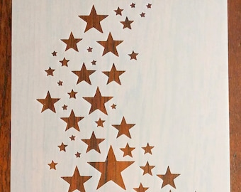 Star Stencil Mask Reusable PP Sheet for Arts & Crafts