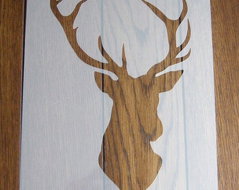 Stag's Head Stencil Mask Reusable PP Sheet for Arts & Crafts, DIY