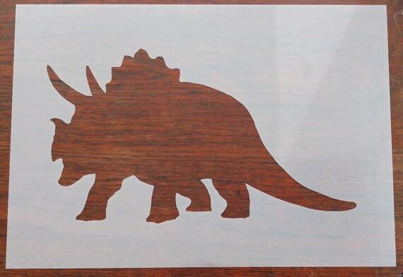 Triceratops Dinosaurio Grande De Pared stencil Idea Para Niños Childrens bedroom Vivero
