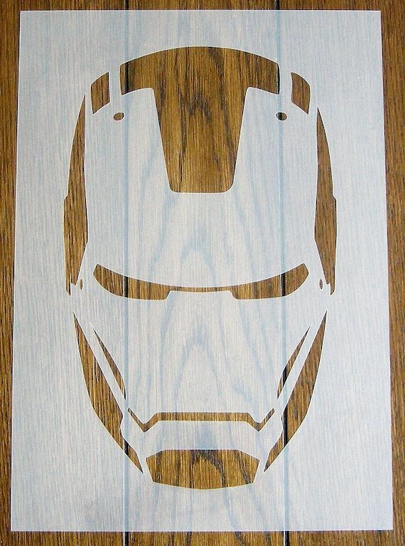 Surréaliste Iron Man Stencil Mask Reusable PP Sheet for Arts & Crafts DIY | Etsy MU-72