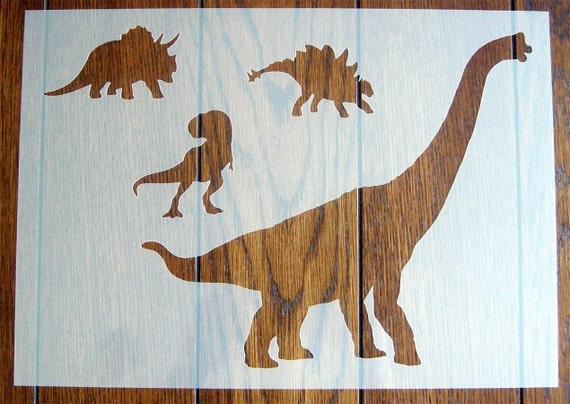 Stegosaurus Dinosaur Stencil Mask Reusable PP Sheet for Arts /& Crafts DIY