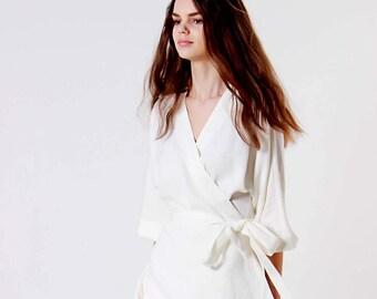 a950ee1a2991 White linen dress