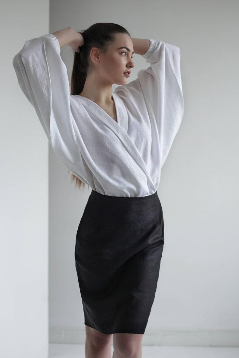 c101c4dc White Linen Shirt Linen Shirt Women Shirts for women White | Etsy