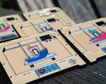 "3D Printing Benchy 1.75"" FDM Enamel Pin"