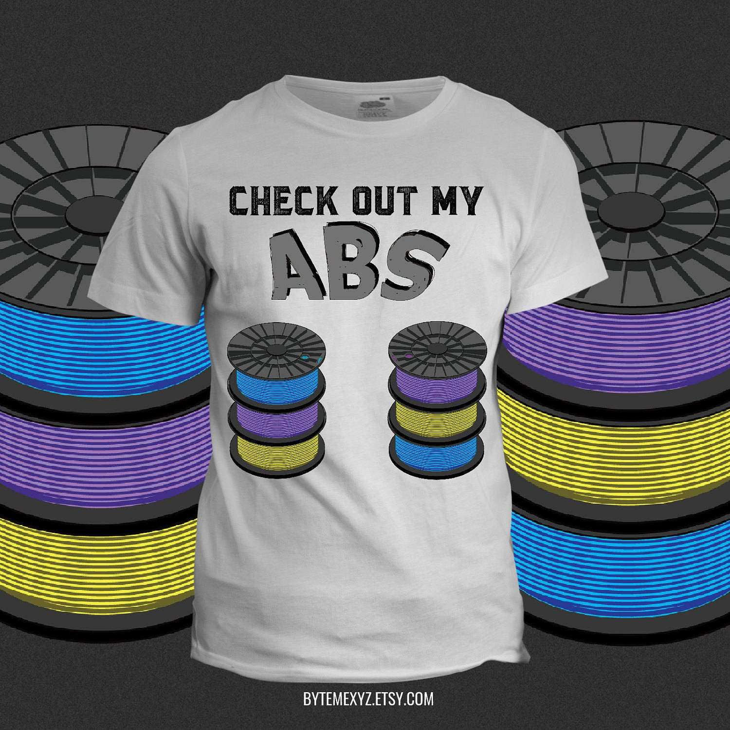 Check Out My Abs 3d Printing T Shirt Etsy