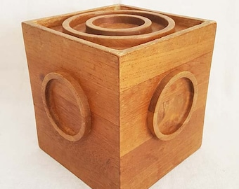 Vintage DANSK Designs Teak Wood Ice Bucket