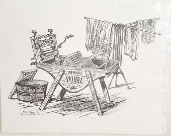 Rose Mary Goodson Washing Machine Sketch Print