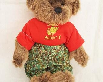 Semper Fi US Marines Ashton-Drake Gallery Teddy Bear