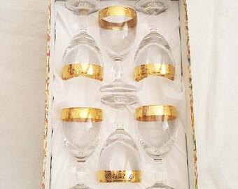 Italian Crystal by i Preziosi Wine Glasses Goblets