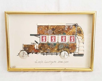 Horological Collage Of The 1914/18 London B-Type Bus By G. Burgess