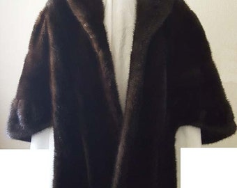 Mink Fur Stole Shawl Wrap