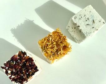 Natural Botanical Bath Bombs- Eucalyptus, Lavender + Rose   Detox, Exfoliate + Moisturize   Bath Salts   Aromatherapy   Self Care Box