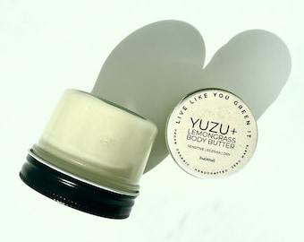 NEW Citrus Body Butter   Yuzu, Lemongrass, Citronella   Zero Waste Moisturizer in 3 Sizes   Natural Bug Repellant   Baby Safe Skincare