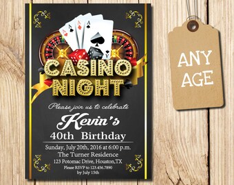 casino invitation etsy
