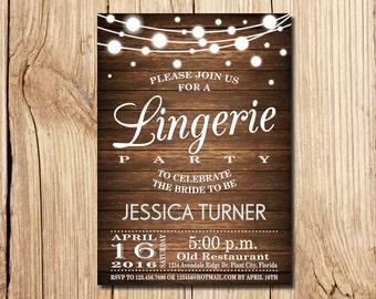 Lingerie invitation Etsy