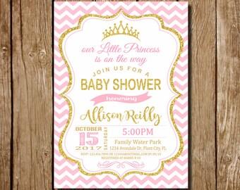 Princess baby shower etsy little princess baby shower invitation princess baby shower invitation pink and gold baby shower invitations princess baby shower filmwisefo
