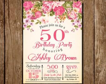 50th birthday invitation for women 50th birthday invitation etsy 50th birthday invitation for women 50th birthday invitation 50th birthday floral party invitation womens birthday floral 50th birthday filmwisefo