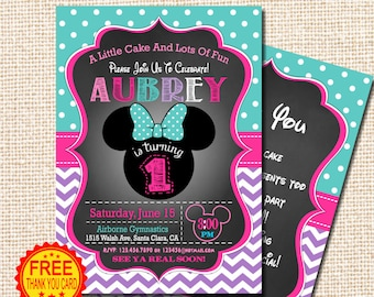 MINNIE MOUSE INVITATION, 1st Birthday Invitation, Minnie Mouse Birthday Invitation, Minnie Mouse Birthday, Minnie Mouse