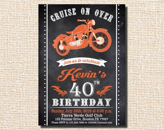 Motorcycle printable etsy motorcycle invitation motorcycle birthday invitation motorcycle birthday vintage motorcycle birthday harley davidson filmwisefo Image collections