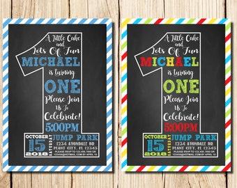 1st Birthday Invitations Boy Etsy