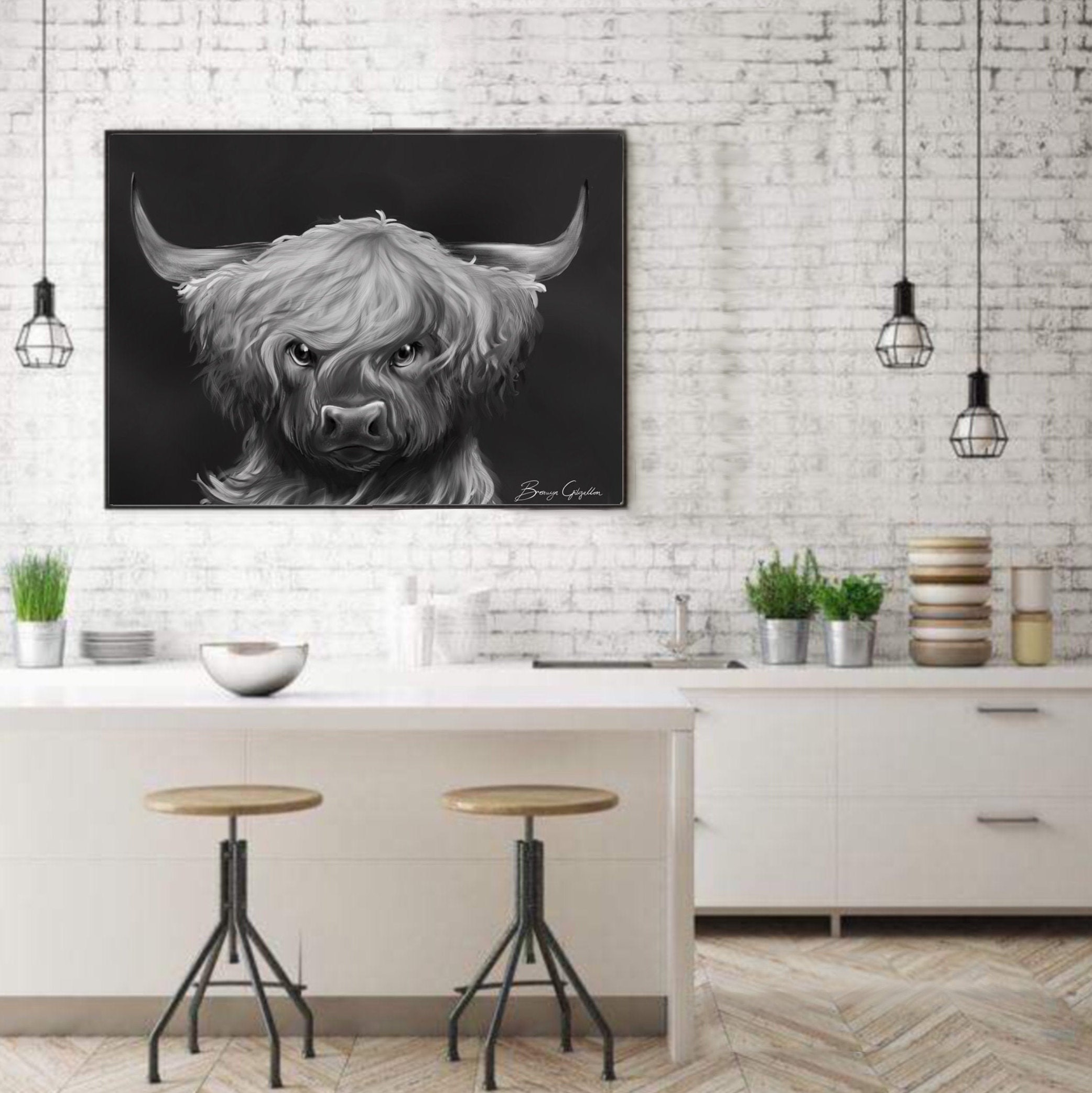 Fantastic Angus Cow Print Highland Cow Angus The Cow Black And Dailytribune Chair Design For Home Dailytribuneorg