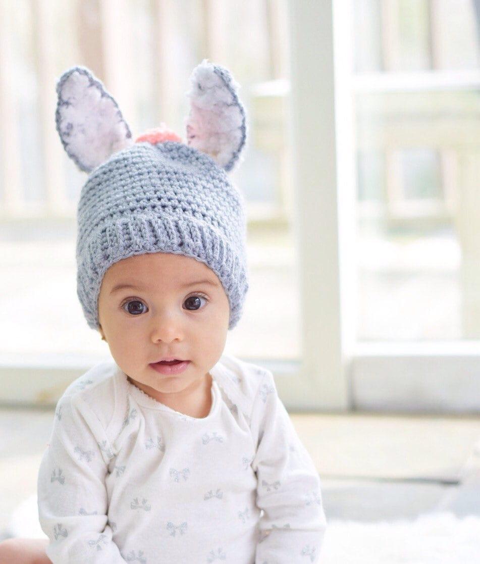 Crochet Bunny Hat Pattern Bunny Hat Pattern Baby Girl Etsy
