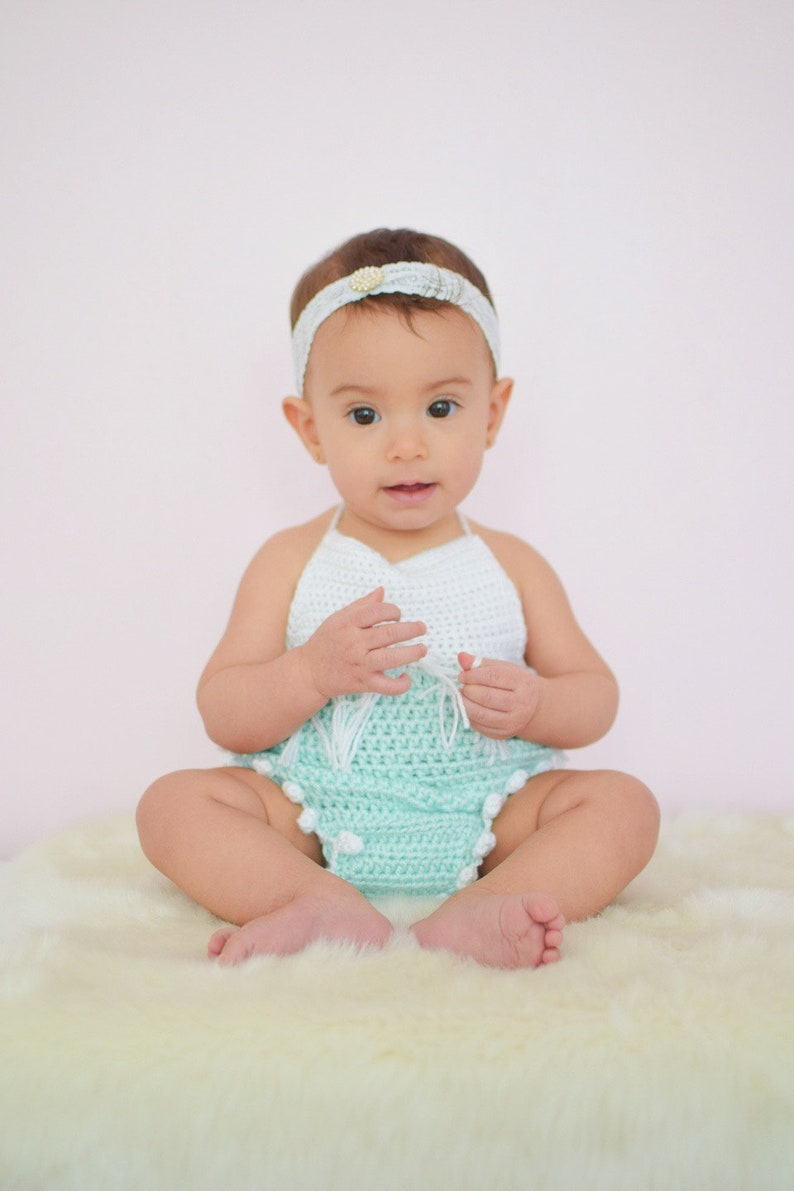 c6d6ca67a Baby romper pattern - Crochet patterns - baby romper - Crochet pattern -  Boho crochet pattern - birthday outfit - Crochet baby outfit