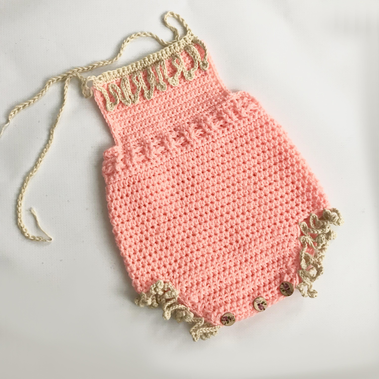 Baby Crochet Romper Baby Romper Crochet Pattern Baby Etsy