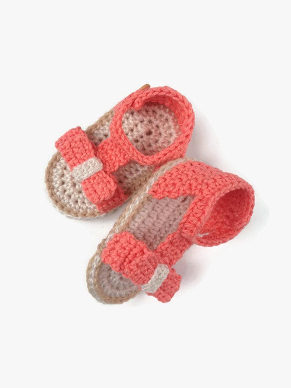 Baby Girl Sandals Pattern Crochet Pattern Slippers Baby Etsy