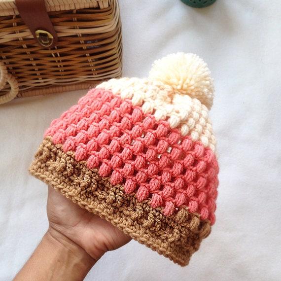 Crochet girl hat pattern Handmade baby hat Crochet baby  8775d9cbf43
