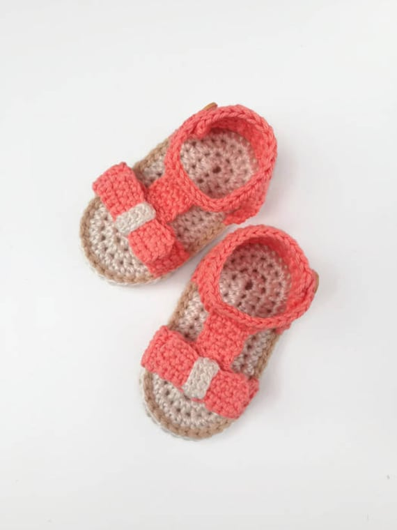 Crochet Baby Sandals Pattern Crochet Shoes Pattern Baby Etsy Delectable Crochet Baby Sandals Pattern