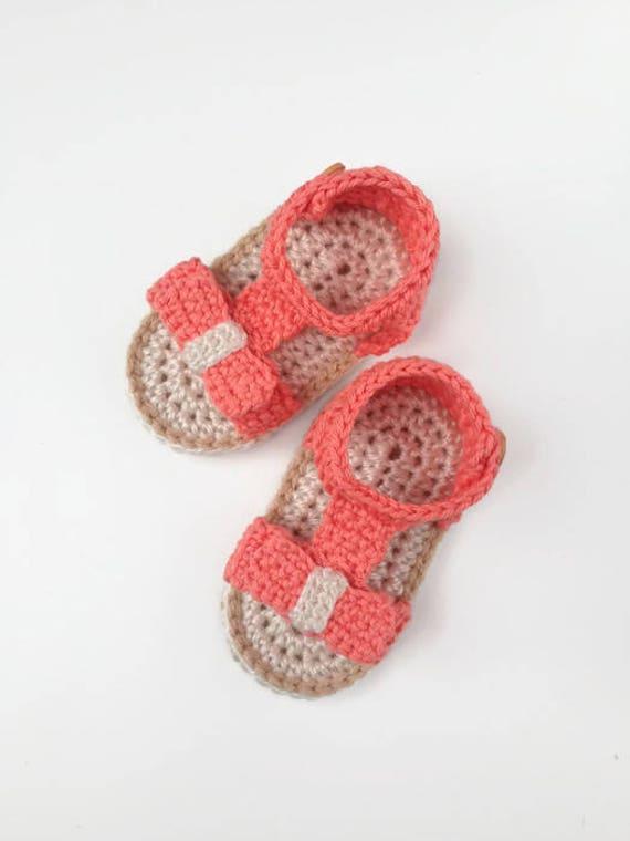 Crochet Baby Sandals Pattern Crochet Shoes Pattern Baby Etsy