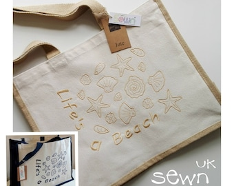 Jute Beach Bag - Perfect to store and carry your seaside and holiday essentials!